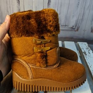 winter snow warm boots shoes girls 6 toddler brown